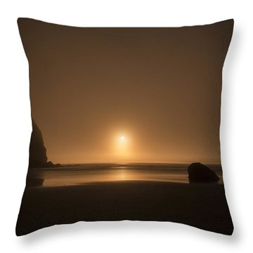 Ruby Beach Sunset Throw Pillow