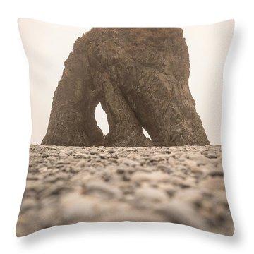 Ruby Beach Triangle Throw Pillow