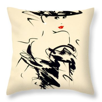 Ruby Throw Pillow by Giannelli