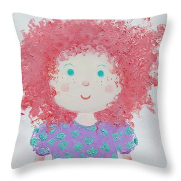 Ruby Throw Pillow by Jan Matson