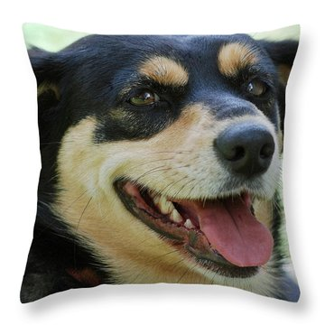 Ruby Throw Pillow by Lisa Phillips