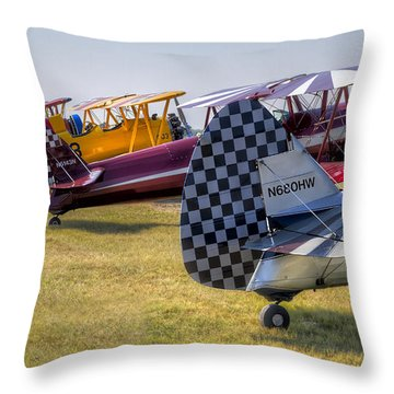 Rudders In A Row Throw Pillow