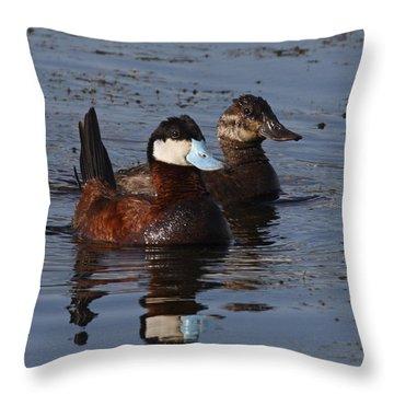 Ruddy Duck Pair Throw Pillow
