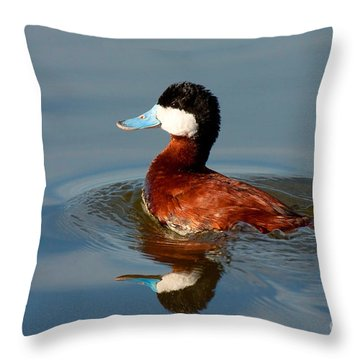 Throw Pillow featuring the photograph Ruddy Duck by Ram Vasudev