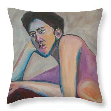 Rude Awakening Throw Pillow by Esther Newman-Cohen