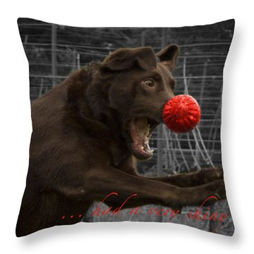 Rudolph Throw Pillow by Jean Noren