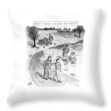 Rudy's Truant Officers For Adults Throw Pillow