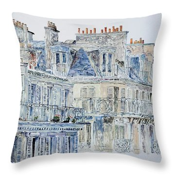 Rue Du Rivoli Paris Throw Pillow by Anthony Butera