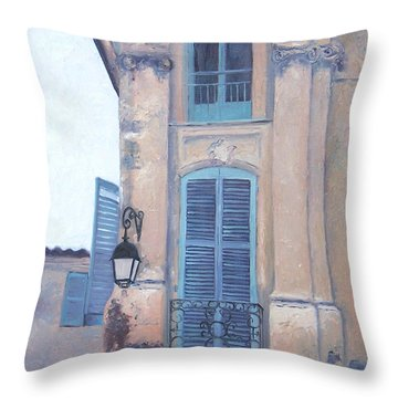 Rue Espariat Aix-en-provence Throw Pillow