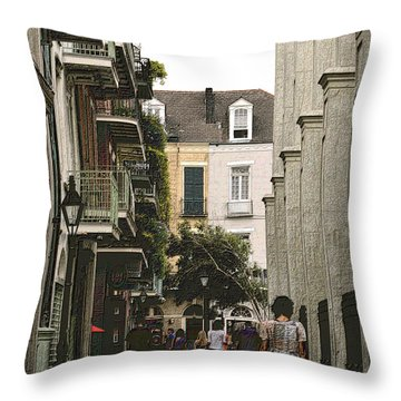 Pere Antoine Alley Throw Pillow