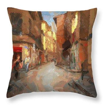 Rue Du Doyenne Throw Pillow