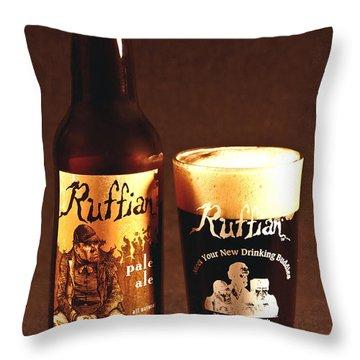 Ruffian Ale Throw Pillow