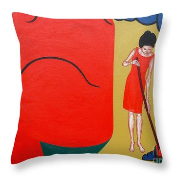 RUG Throw Pillow by Patrick J Murphy