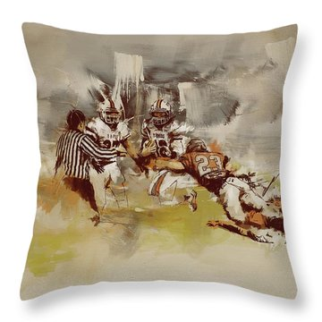 Rugby Throw Pillow by Corporate Art Task Force