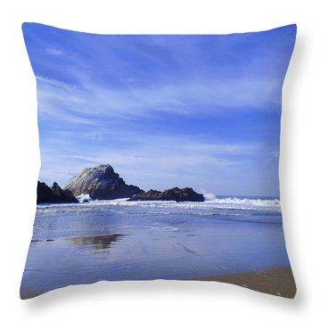 Rugged Reflections Throw Pillow