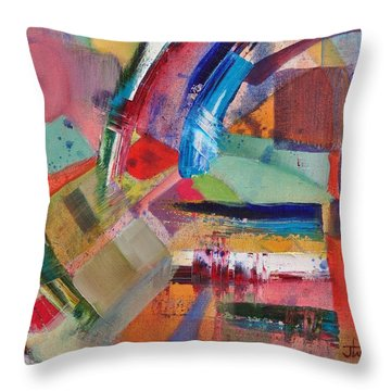 Rugged Strokes Throw Pillow by Jason Williamson