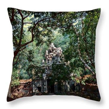 Ruin At Angkor Wat Throw Pillow