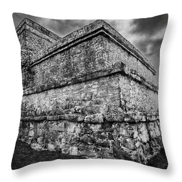Ruin At Tulum Throw Pillow