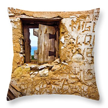 Ruined Wall Throw Pillow by Carlos Caetano