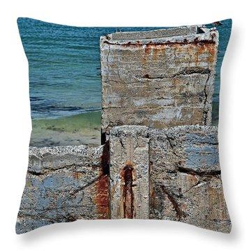 Ruins At Monterey Bay Throw Pillow by Susan Wiedmann