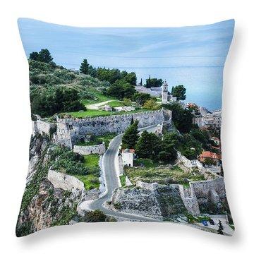 Ruins Of Acronafplia Throw Pillow