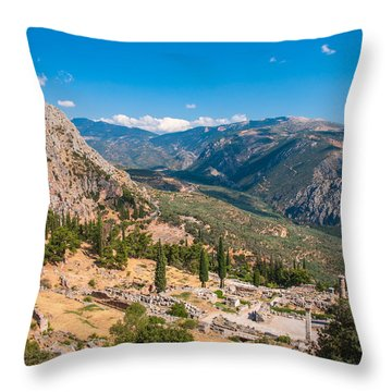 Ruins Of Delphi Throw Pillow