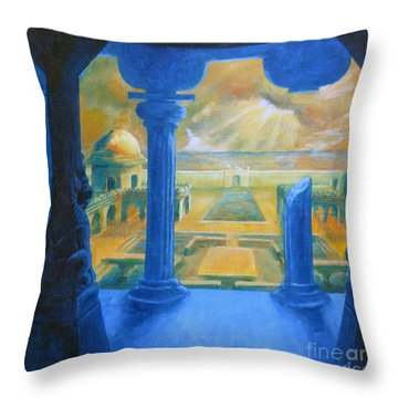 Ruins Of Lankapura Throw Pillow