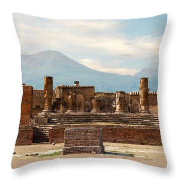 Ruins Of Pompeii Throw Pillow