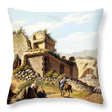 Ruins Of The Stadium, 1790s Throw Pillow by Gaetano Mercati