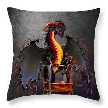 Rum Dragon Throw Pillow
