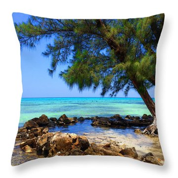 Rum Point Cove Throw Pillow