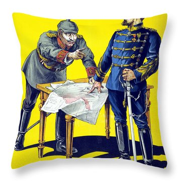 Rumanias Day Throw Pillow by Anonymous
