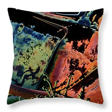 Rumble Seat Throw Pillow by Barbara D Richards