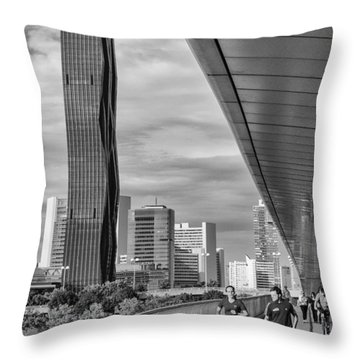 Run Across Viena Throw Pillow