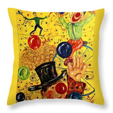 Run Away With A Circus Throw Pillow