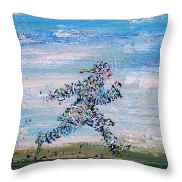 Run Casanova Run Throw Pillow by Fabrizio Cassetta