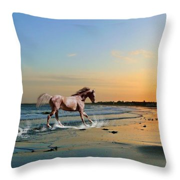 Run Like The Wind Throw Pillow by Morag Bates