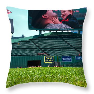 Run To Home Base 2012 Throw Pillow by Paul Mangold