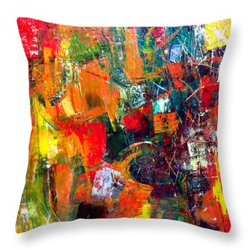 Throw Pillow featuring the painting Runaround by Katie Black