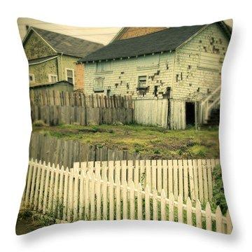 Rundown Shacks Throw Pillow by Jill Battaglia
