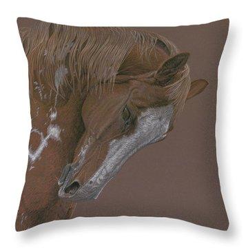 Chestnut Paint Horse Throw Pillows