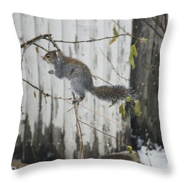 Running Away  Throw Pillow by Lorelle Gromus