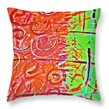 Running Circles 'round The Sun Throw Pillow