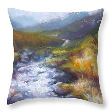 Running Down - Landscape View From Hatcher Pass Throw Pillow