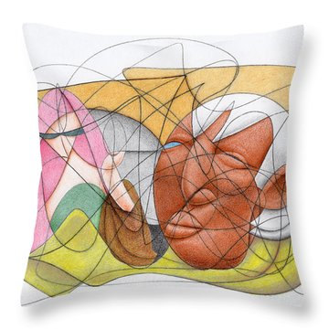 Running Errands Throw Pillow