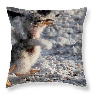 Running Free - Least Tern Throw Pillow