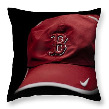 Running Hat Throw Pillow by Tom Gort