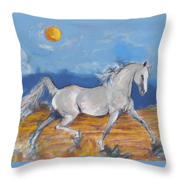 Running Horse M Throw Pillow