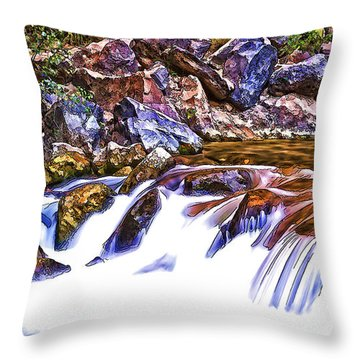 Running On The River Throw Pillow