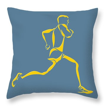 Athens Marathon Throw Pillows